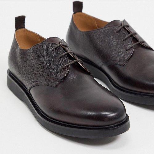 Dumont - Chaussures à lacets en cuir grainé - Bordeaux - H by Hudson - Modalova