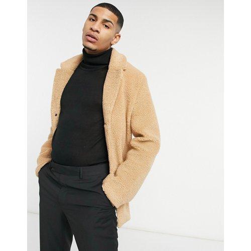 Manteau duveteux à poche carrée - Harry Brown - Modalova