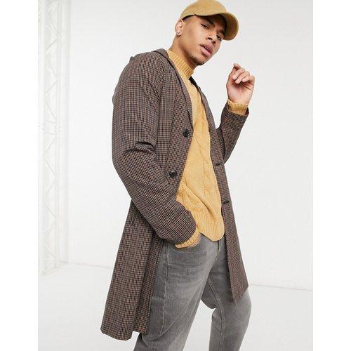 Manteau long à ceinture et à carreaux vichy - Harry Brown - Modalova