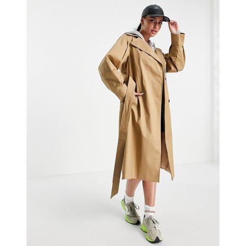 Trench-coat cache-cœur à manches bouffantes - Camel - Helene Berman - Modalova