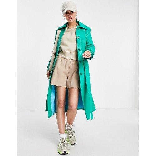 Trench-coat croisé en imitation cuir - Helene Berman - Modalova