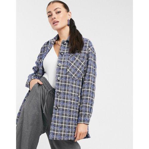 Veste façon chemise en laine mélangée à carreaux - Helene Berman - Modalova
