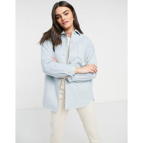 Veste façon chemise en laine mélangée - Helene Berman - Modalova