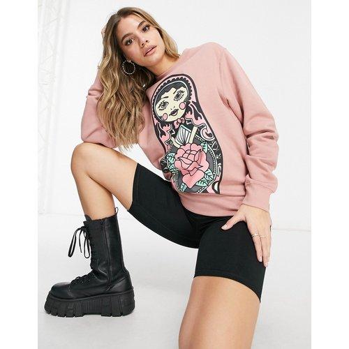 HNR LDN - Sweat-shirt à imprimé poupée - clair - Honour - Modalova