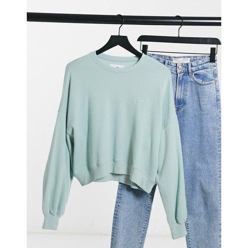 Sweat-shirt ras de cou à logo - Menthe - Hollister - Modalova