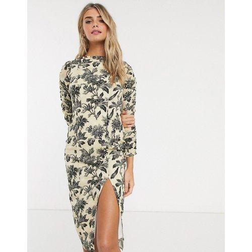 Robe fourreau à imprimé floral effet aquarelle - Hope & Ivy - Modalova