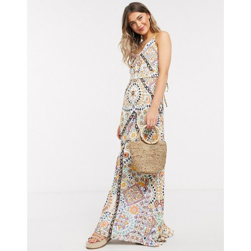 Robe longue à fines bretelles avec imprimé mosaïque - Hope & Ivy - Modalova