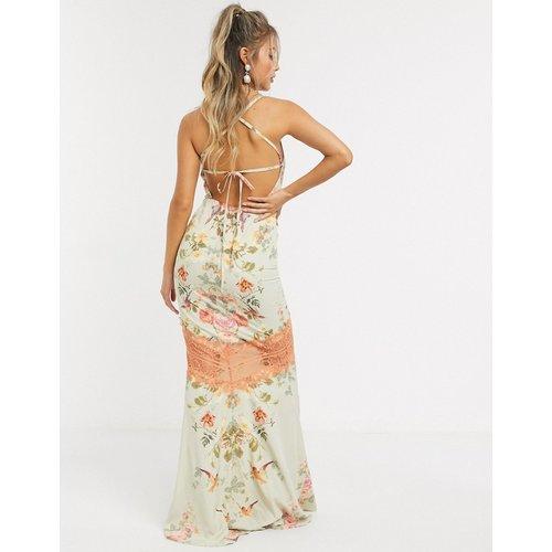 Robe longue caraco à fleurs avec dos découvert - Hope & Ivy - Modalova