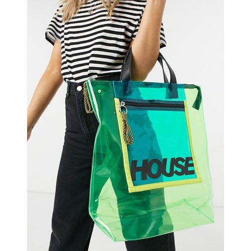 Tote bag transparent avec fermeture éclair - House Of Holland - Modalova