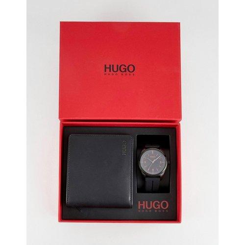 Create - Coffret-cadeau portefeuille et montre à bracelet en silicone - HUGO - Modalova