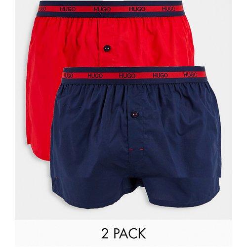 HUGO - Lot de 2caleçons - Rouge/bleu marine - HUGO Bodywear - Modalova