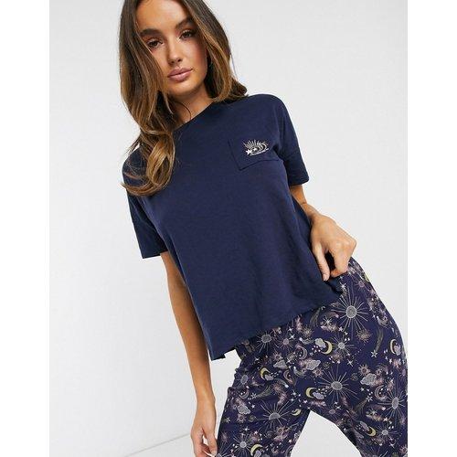 Moonchild - Haut de pyjama - Bleu marine - Hunkemoller - Modalova