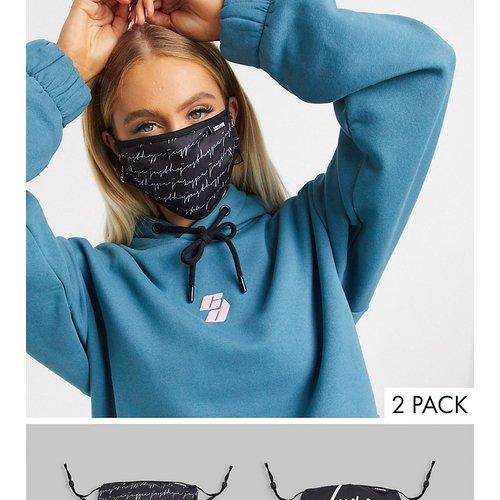 Lot de2 masques en tissu à bandes ajustables, en exclusivité - Hype - Modalova