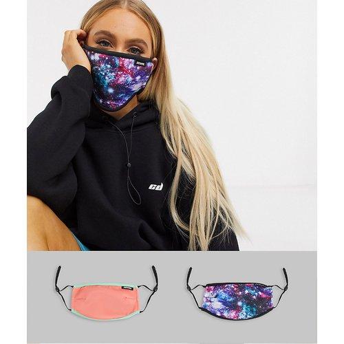 Lot de2masques en tissu à bandes ajustablles et imprimés variés, en exclusivité - Hype - Modalova