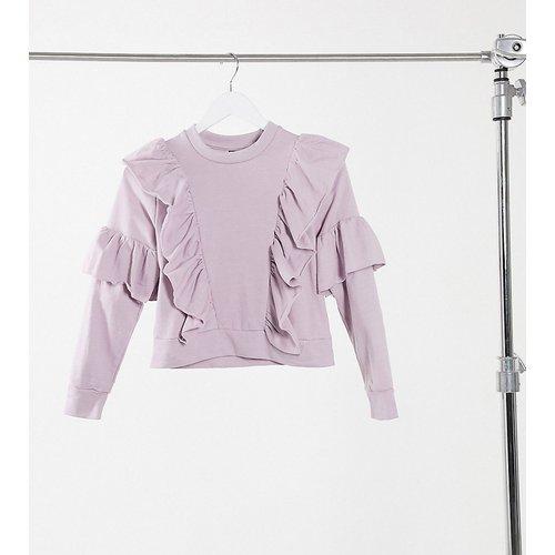 Sweat-shirt à volants - Lilas sombre - Influence Petite - Modalova