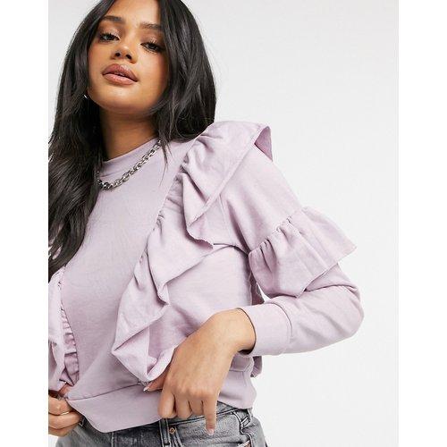 Sweat-shirt à volants - Lilas sombre - Influence - Modalova