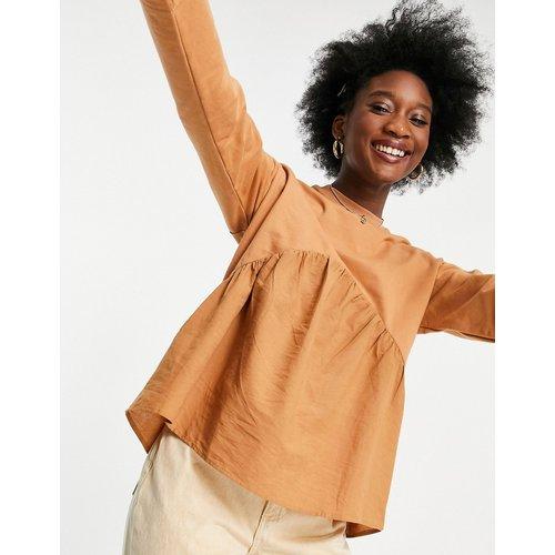 Sweat-shirt avec empiècement en coton - Fauve - Influence - Modalova