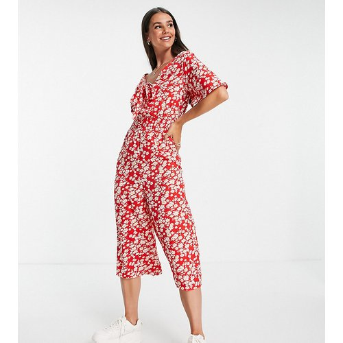 Combinaison - Rouge imprimé fleuri - Influence Tall - Modalova
