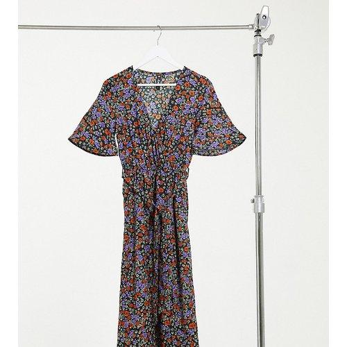 Robe cache-cœur mi-longue fendue à imprimé fleuri - Influence Tall - Modalova