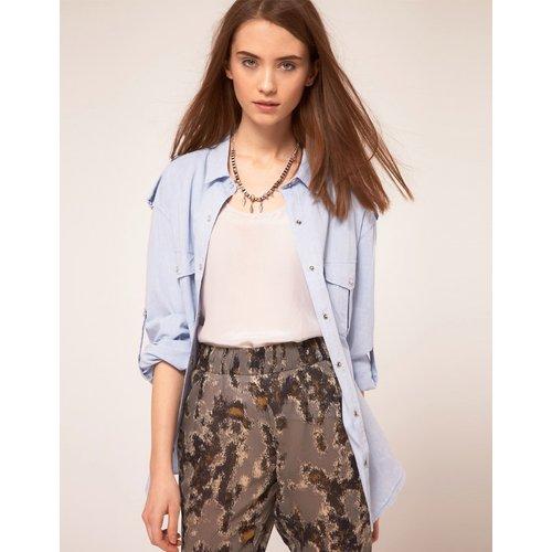 IRO - Chemise en jean vieilli-Bleu - Iro - Modalova