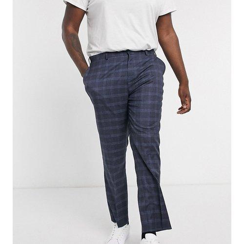 Alfie - Pantalon de costume à carreaux - Bleu - Jacamo - Modalova