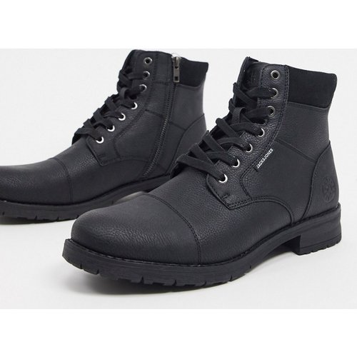 Bottines en imitation cuir à lacets - jack & jones - Modalova