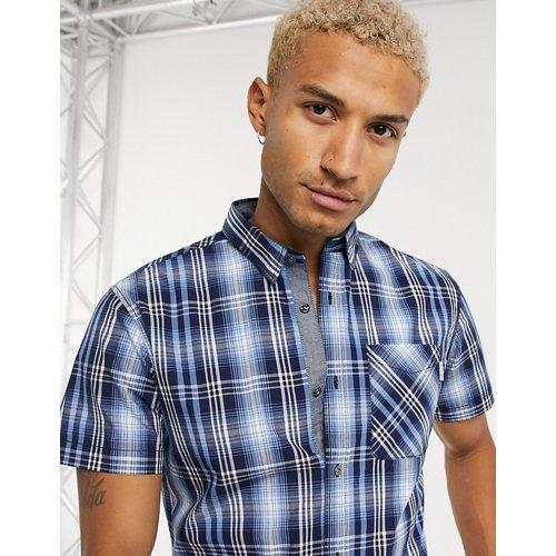 Chemise manches courtes à carreaux - Bleu - jack & jones - Modalova