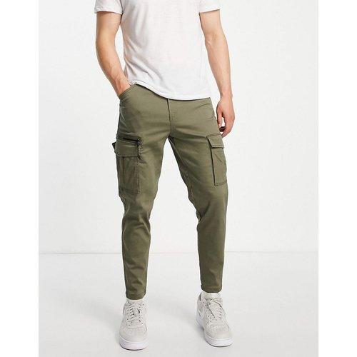 Intelligence - Pantalon cargo coupe carotte - Kaki - jack & jones - Modalova