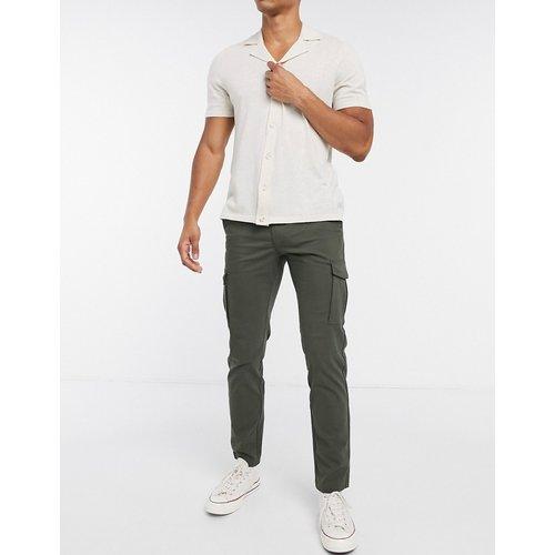 Intelligence - Pantalon cargo coupe slim habillé de style épuré - Kaki - jack & jones - Modalova