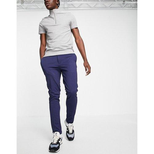 Intelligence - Pantalon stretch coupe slim à pinces en coton biologique - Bleu - jack & jones - Modalova