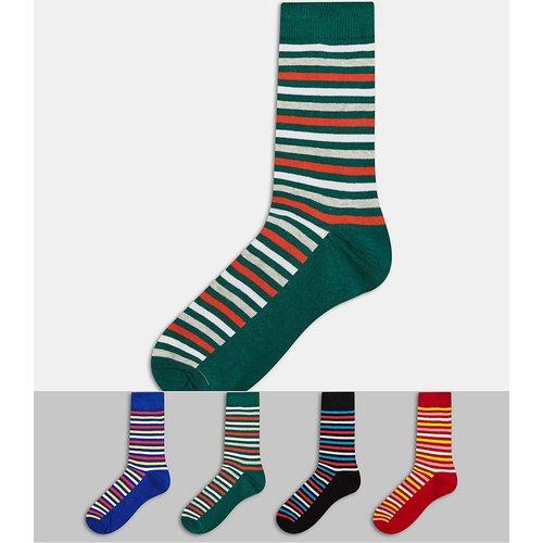 Lot de 4 paires de chaussettes à rayures - Multicolore - jack & jones - Modalova