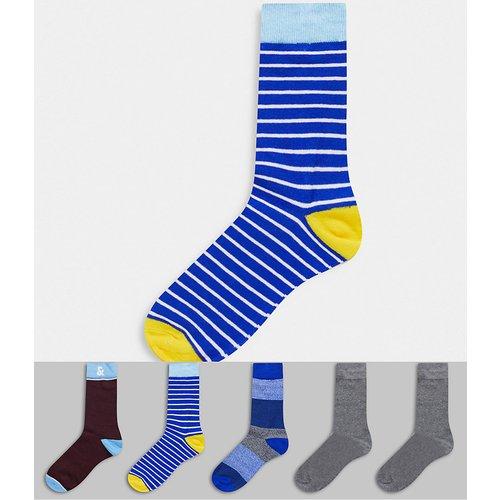 Lot de 5 paires de chaussettes à rayures - jack & jones - Modalova