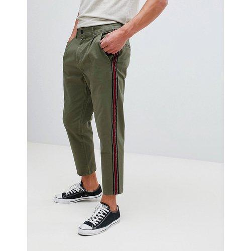 Pantalon chino fuselé avec rayures latérales - jack & jones - Modalova