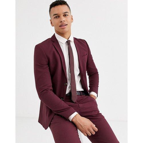 Premium - Veste de costume ajustée stretch - Bordeaux uni - jack & jones - Modalova