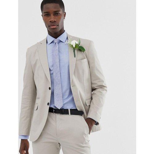 Premium - Veste de costume de mariage ajustée en coton brossé - jack & jones - Modalova
