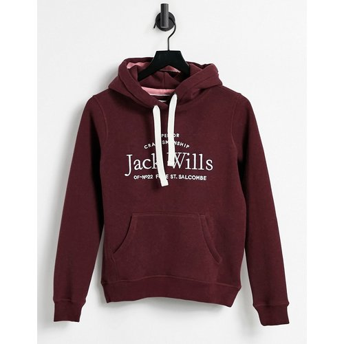 Hoodie avec logo - Bordeaux - Jack Wills - Modalova