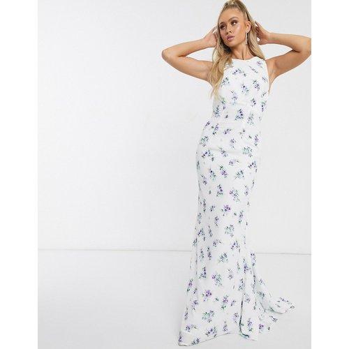 Robe longue à dos ouvert - fleuri - Jarlo - Modalova