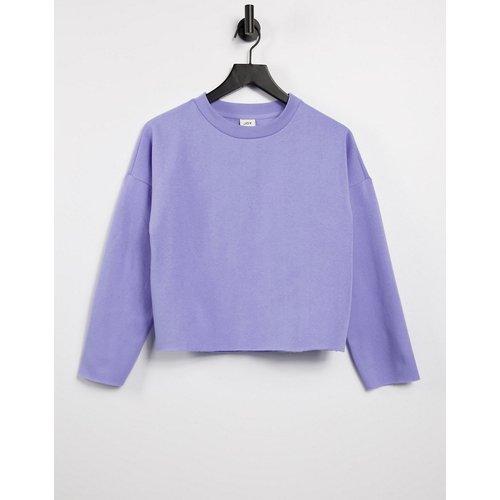 Sweat-shirt d'ensemble coupe carrée en coton biologique mélangé - Lilas - JDY - Modalova