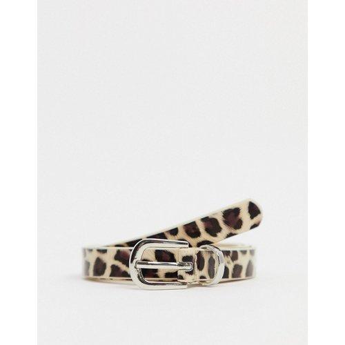 Ceinture à imprimé léopard avec boucle - Doré - Johnny Loves Rosie - Modalova