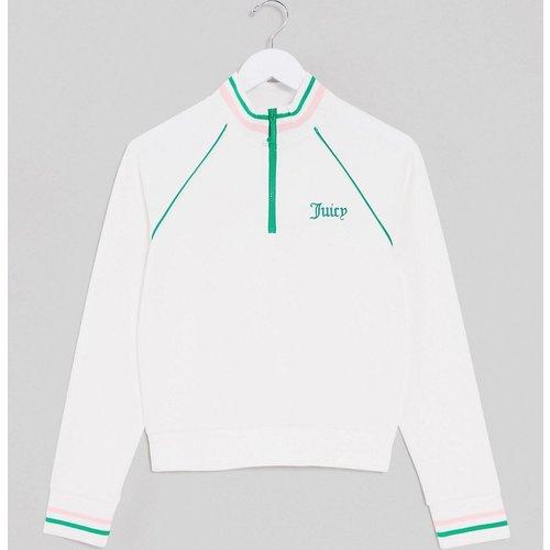 Black Label - Pull style tennis en maille à demi-fermeture éclair - (ensemble) - Juicy Couture - Modalova