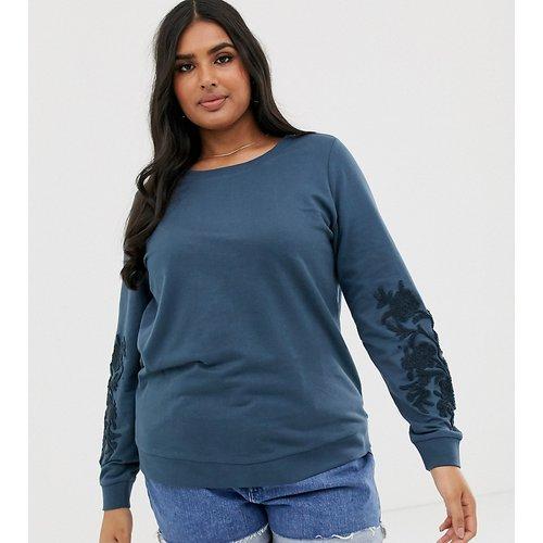 Sweat-shirt avec détail sur les manches - Junarose - Modalova
