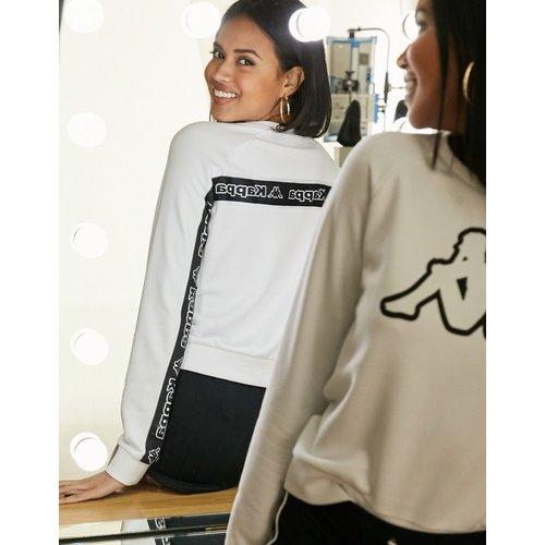 Sweat-shirt avec logo sur le devant et bande au dos - Kappa - Modalova