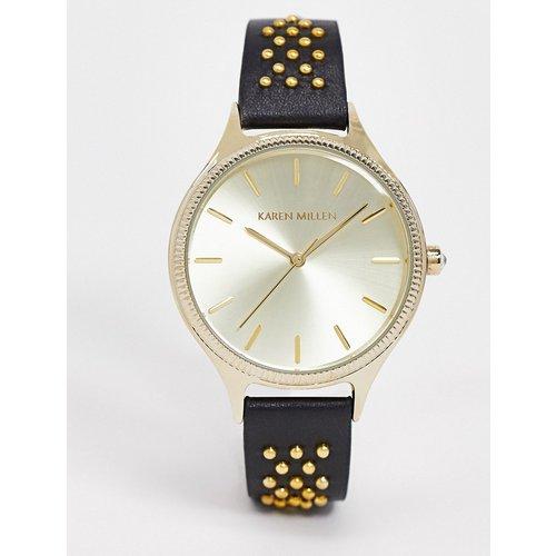 Montre bracelet cuir - Karen Millen - Modalova