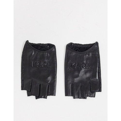 Gants perforés à logo - Karl Lagerfeld - Modalova