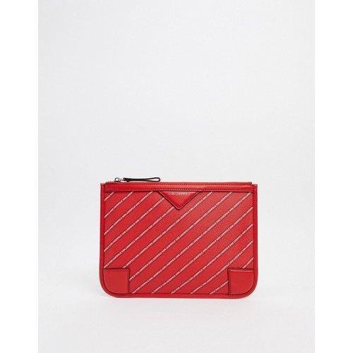 Porte-monnaie avec rayures à logo - Karl Lagerfeld - Modalova