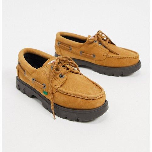 Lennon -Chaussures bateau en nubuck - Kickers - Modalova