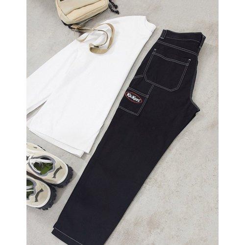 Pantalon style charpentier classique à surpiqûres contrastantes - Kickers - Modalova