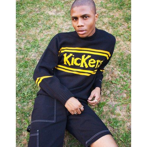 Sweat-shirt classique en maille avec empiècement à logo - Kickers - Modalova