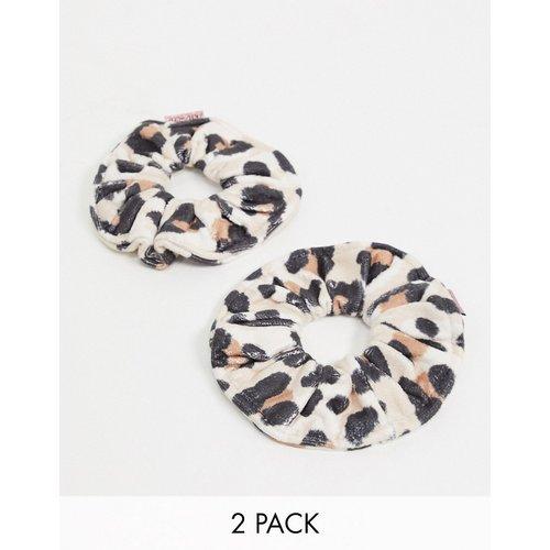 Chouchous en tissu éponge microfibre motif léopard - Kitsch - Modalova