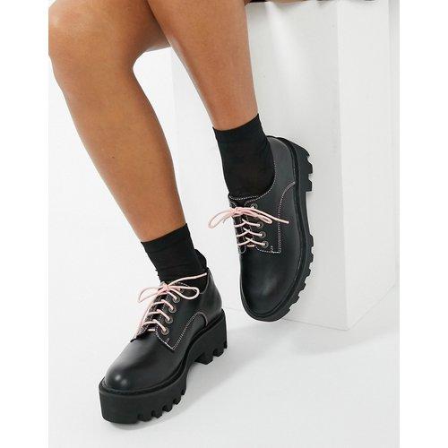 Chaussures plates chunky à lacets interchangeables - et rose - Lamoda - Modalova